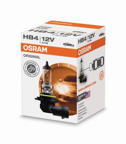 HB4 12V 51W P22d 1st. Original Spare Part 9006 Osram