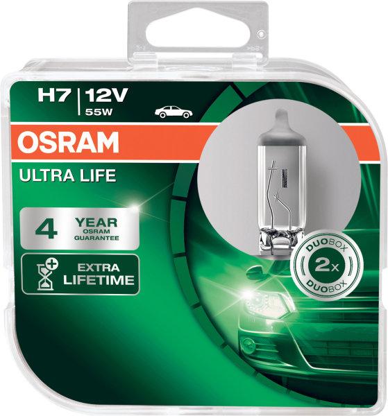 H7 12V 55W PX26d ULTRA LIFE HCB 2st. Osram