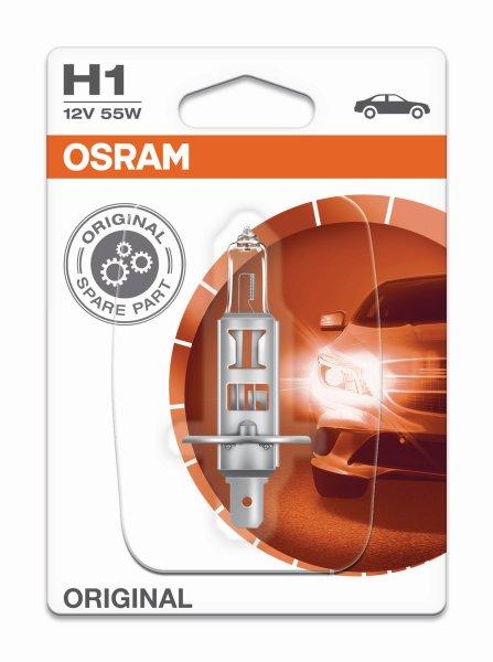 H1 12V 55W P14,5s Original Spare Part Blister 1st. Osram