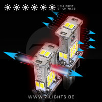 2x REVERSE7LIGHT X4 W16W LED + 2x Check-Terminatoren (Rückfahrlicht/Rücklicht/Rückwärtsgang) Audi A5 8T