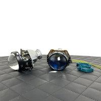 Xenon-Projektor Hella 3R G5 Entspiegelte Linse mit Blau-Filter D1S D2S D3S D4S