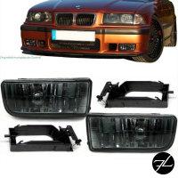 Set Nebelscheinwerfer Schwarz Smoke Rauchglas passt für alle Typen BMW E36 91-99