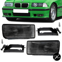 Nebelscheinwerfer SET Smoke Rauchglas abgedunkelt geriffelt passend für BMW E36
