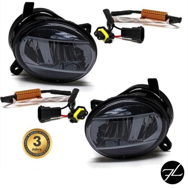 Set Klarglas Voll LED Nebelscheinwerfer Smoke passt für A4 B8 07-11 A6 4F 08-11 Q5 8R