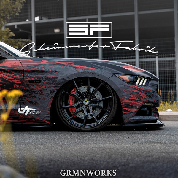 Scheinwerfer-Lackierung - Ford Mustang (6. Gen Facelift) Fastback S550 GT GT350 GT500