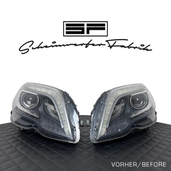 Scheinwerfer-Lackierung - Mercedes GLK X204 MOPF - Schwarz Farbe