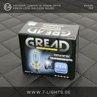 2x GREAD Silverline Halogen-Lampe Xenon-Optik 8500k