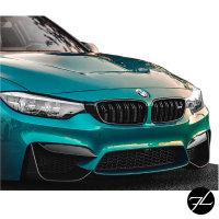 Set Aero Flaps Spoiler Original Carbon passt für BMW 3er F80 M3 / 4er F82 M4 Stoßstange vorne