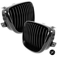 2x Kühlergrill Performance Schwarz Glanz SATZ passend für BMW 1er E87/E82/E88 Bj 07-11